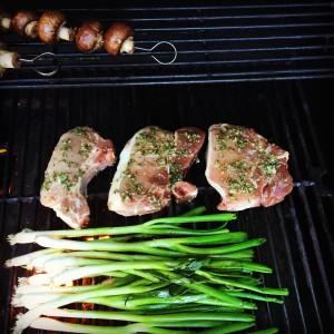 Walden Hill Acorn Pork Chops on the Grill