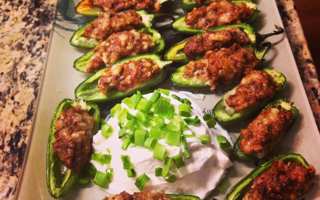 Sausage Stuffed Peppers: Finger Food Pleaser