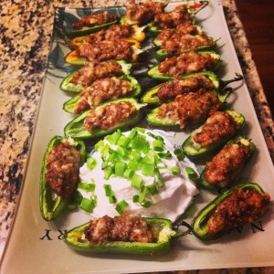 Walden Hill Acorn Pork Sausage Stuffed Peppers
